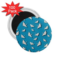 Paper Cranes Pattern 2 25  Magnets (100 Pack)  by Valentinaart