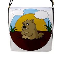 Groundhog Day Flap Messenger Bag (l)  by Valentinaart