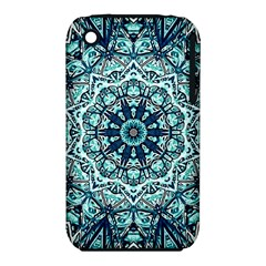 Green Blue Black Mandala  Psychedelic Pattern Iphone 3s/3gs by Costasonlineshop