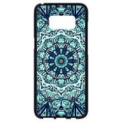 Green Blue Black Mandala  Psychedelic Pattern Samsung Galaxy S8 Black Seamless Case by Costasonlineshop