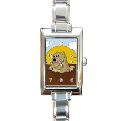 Groundhog Day Rectangle Italian Charm Watch by Valentinaart