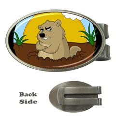 Groundhog Day Money Clips (oval)  by Valentinaart