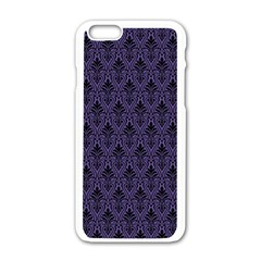 Color Of The Year 2018   Ultraviolet   Art Deco Black Edition Apple Iphone 6/6s White Enamel Case by tarastyle
