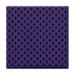 Color Of The Year 2018   Ultraviolet   Art Deco Black Edition  Tile Coasters by tarastyle