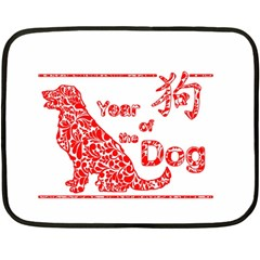Year Of The Dog   Chinese New Year Fleece Blanket (mini) by Valentinaart