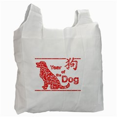 Year Of The Dog   Chinese New Year Recycle Bag (one Side) by Valentinaart