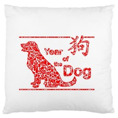 Year Of The Dog   Chinese New Year Large Flano Cushion Case (two Sides) by Valentinaart