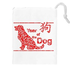 Year Of The Dog   Chinese New Year Drawstring Pouches (xxl) by Valentinaart