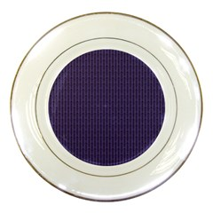 Color Of The Year 2018   Ultraviolet   Art Deco Black Edition Porcelain Plates by tarastyle