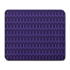 Color Of The Year 2018   Ultraviolet   Art Deco Black Edition Large Mousepads by tarastyle