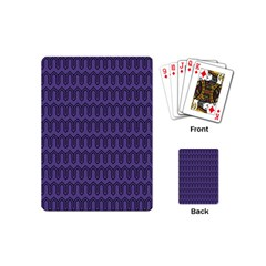 Color Of The Year 2018   Ultraviolet   Art Deco Black Edition Playing Cards (mini)  by tarastyle
