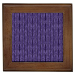 Color Of The Year 2018   Ultraviolet   Art Deco Black Edition Framed Tiles by tarastyle