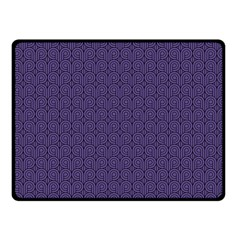 Color Of The Year 2018   Ultraviolet   Art Deco Black Edition Fleece Blanket (small) by tarastyle
