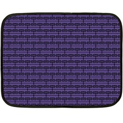 Color Of The Year 2018   Ultraviolet   Art Deco Black Edition Fleece Blanket (mini) by tarastyle