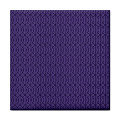 Color Of The Year 2018   Ultraviolet   Art Deco Black Edition 10 Face Towel by tarastyle