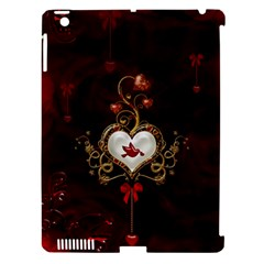 Wonderful Hearts With Dove Apple Ipad 3/4 Hardshell Case (compatible With Smart Cover) by FantasyWorld7