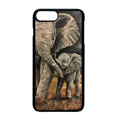 Elephant Mother And Baby Apple Iphone 7 Plus Seamless Case (black)
