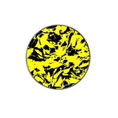 Yellow Black Abstract Military Camouflage Hat Clip Ball Marker (4 Pack) by Costasonlineshop