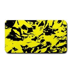 Yellow Black Abstract Military Camouflage Medium Bar Mats by Costasonlineshop