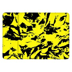 Yellow Black Abstract Military Camouflage Samsung Galaxy Tab 8 9  P7300 Flip Case by Costasonlineshop