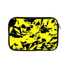 Yellow Black Abstract Military Camouflage Apple Ipad Mini Zipper Cases by Costasonlineshop