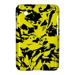 Yellow Black Abstract Military Camouflage Samsung Galaxy Tab 2 (7 ) P3100 Hardshell Case  by Costasonlineshop