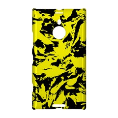 Yellow Black Abstract Military Camouflage Nokia Lumia 1520 by Costasonlineshop