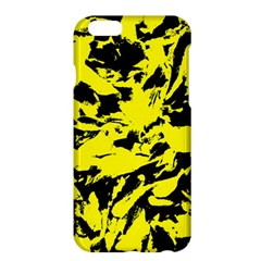 Yellow Black Abstract Military Camouflage Apple Iphone 6 Plus/6s Plus Hardshell Case by Costasonlineshop