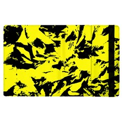 Yellow Black Abstract Military Camouflage Apple Ipad Pro 12 9   Flip Case by Costasonlineshop