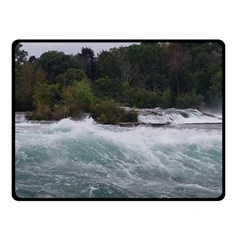 Sightseeing At Niagara Falls Double Sided Fleece Blanket (small)  by canvasngiftshop