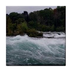 Sightseeing At Niagara Falls Tile Coasters by canvasngiftshop