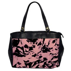 Old Rose Black Abstract Military Camouflage Office Handbags by Costasonlineshop