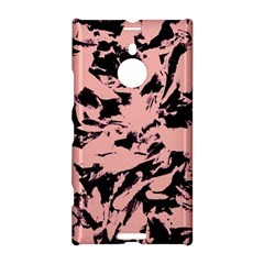 Old Rose Black Abstract Military Camouflage Nokia Lumia 1520 by Costasonlineshop