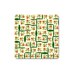 Plants And Flowers Square Magnet by linceazul