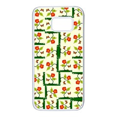 Plants And Flowers Samsung Galaxy S7 White Seamless Case by linceazul