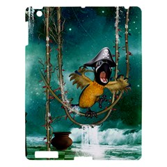 Funny Pirate Parrot With Hat Apple Ipad 3/4 Hardshell Case by FantasyWorld7