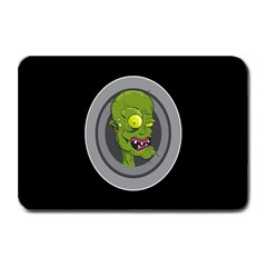 Zombie Pictured Illustration Plate Mats by Onesevenart