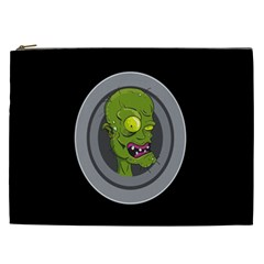Zombie Pictured Illustration Cosmetic Bag (xxl)  by Onesevenart
