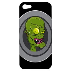 Zombie Pictured Illustration Apple Iphone 5 Hardshell Case by Onesevenart