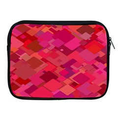 Red Background Pattern Square Apple Ipad 2/3/4 Zipper Cases