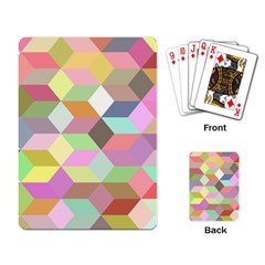 Mosaic Background Cube Pattern Playing Card by Onesevenart