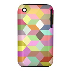 Mosaic Background Cube Pattern Iphone 3s/3gs by Onesevenart
