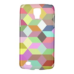 Mosaic Background Cube Pattern Galaxy S4 Active by Onesevenart