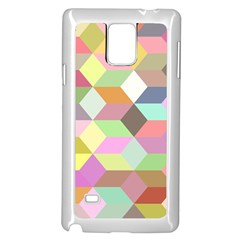 Mosaic Background Cube Pattern Samsung Galaxy Note 4 Case (white) by Onesevenart