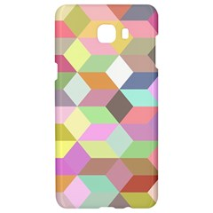 Mosaic Background Cube Pattern Samsung C9 Pro Hardshell Case  by Onesevenart