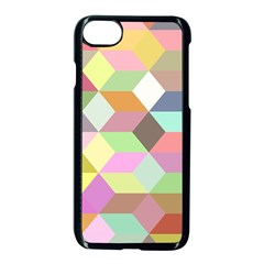 Mosaic Background Cube Pattern Apple Iphone 8 Seamless Case (black) by Onesevenart