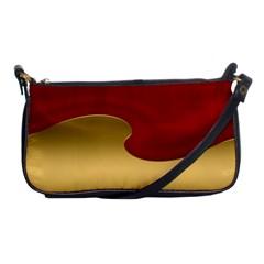 Background Festive Wave Shoulder Clutch Bags by Onesevenart