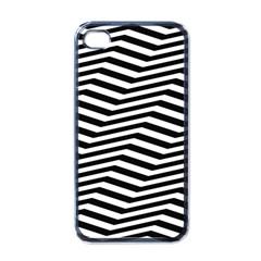 Zig Zag Zigzag Chevron Pattern Apple Iphone 4 Case (black) by Onesevenart