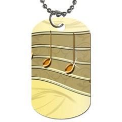 Music Staves Clef Background Image Dog Tag (two Sides) by Onesevenart