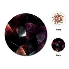 Crystals Background Design Luxury Playing Cards (round)